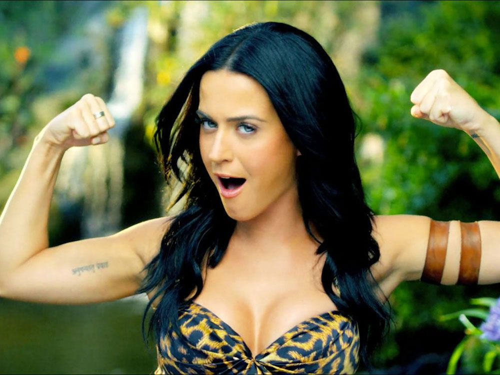 Katy Perry en un fotograma de su videoclip 'Last Friday Night'.