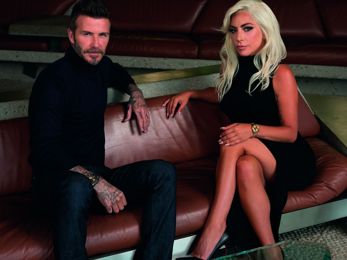 Lady Gaga, David Beckham