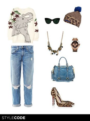 Look sport con estampado leopardo