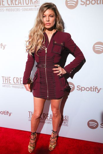 Fergie y su mini dress