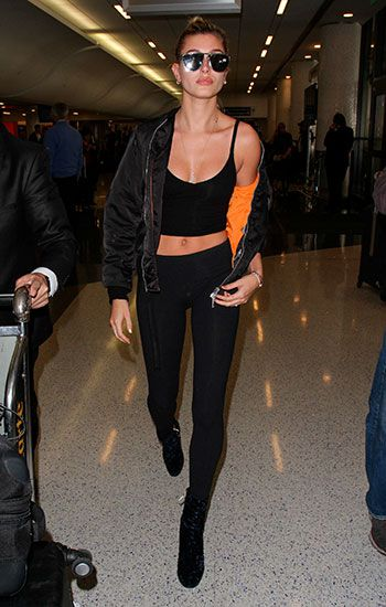 Hailey Baldwin magic bomber