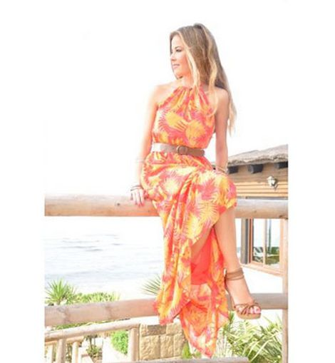 Maxi dress tropical