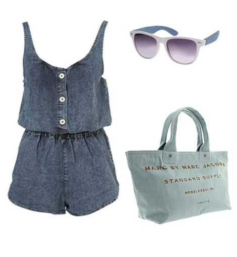 Look de playa denim