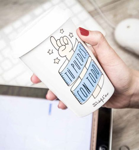 Taza para llevar el café de Mr. Wonderful