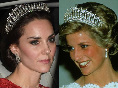 La tiara favorita de Diana de Gales que eclipsó el look de Kate Middleton