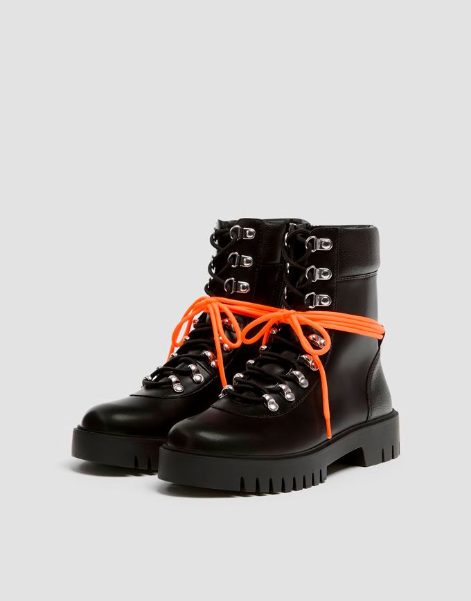 biker boots pull and bear