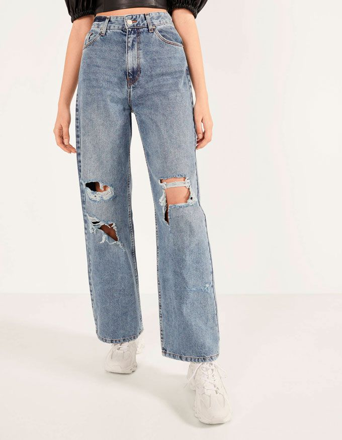 pantalones rotos pull and bear