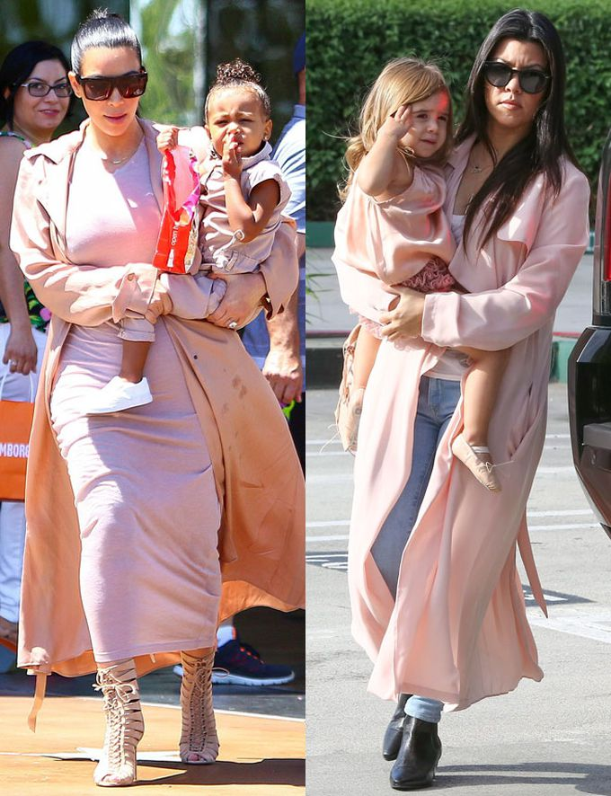 Kim y kourtney: de paseo