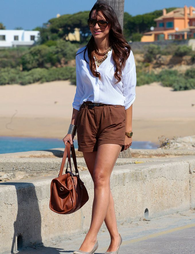 shorts color tierra