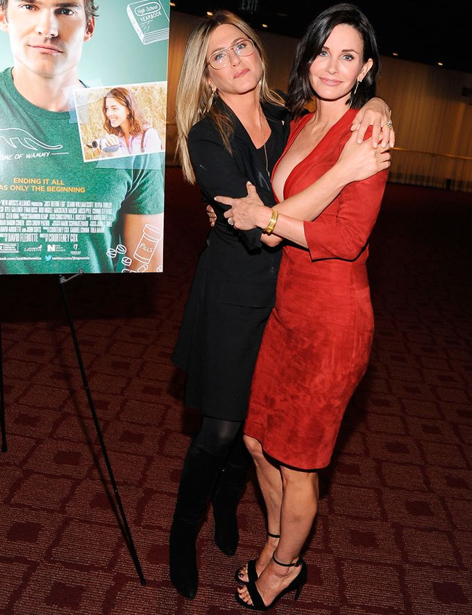 Jennifer Aniston y Courtney Cox