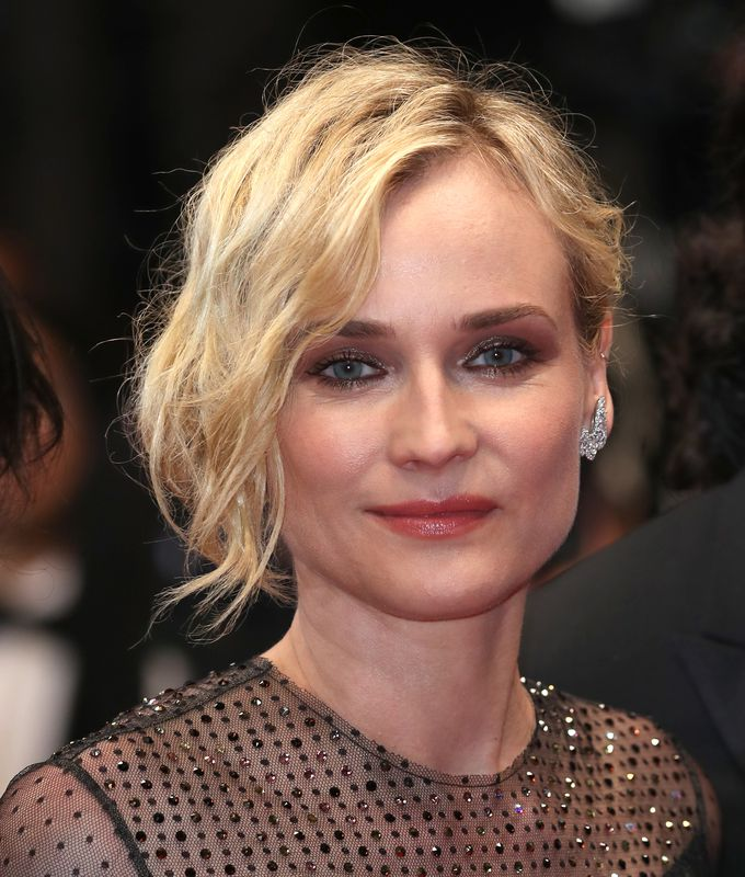 Diane Kruger con maquillaje