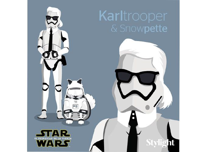 Karl Lagerfeld y Choupette son Stormtroopers