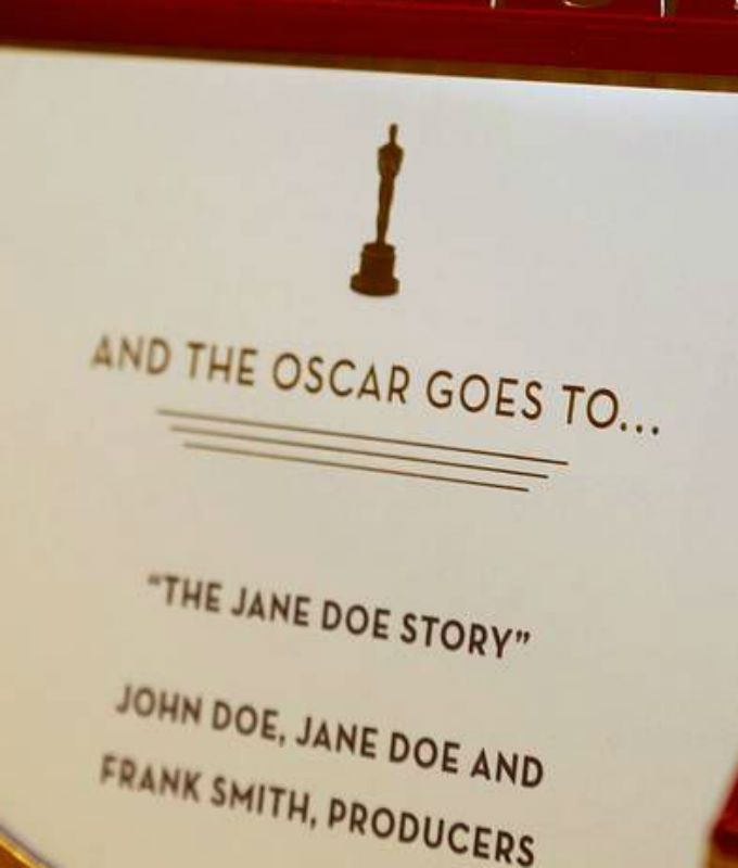 'The Oscar goes to...'