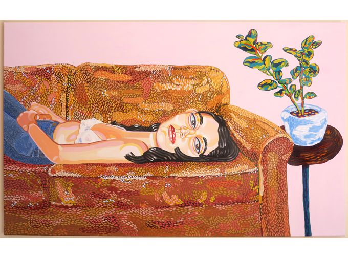 """Girl on couch"""