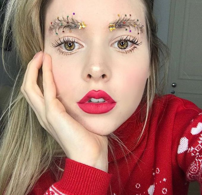 #christmastreeeyebrows