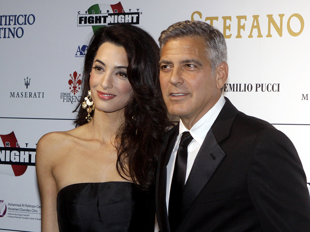 Amal Clooney a George