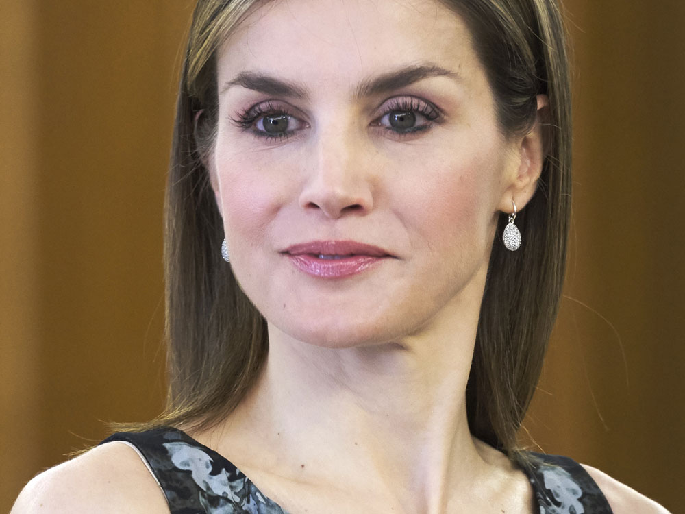 Letizia y el estampado allover