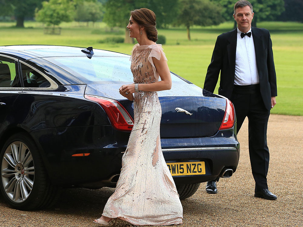Kate Middleton recicla su vestido de Jenny Packham