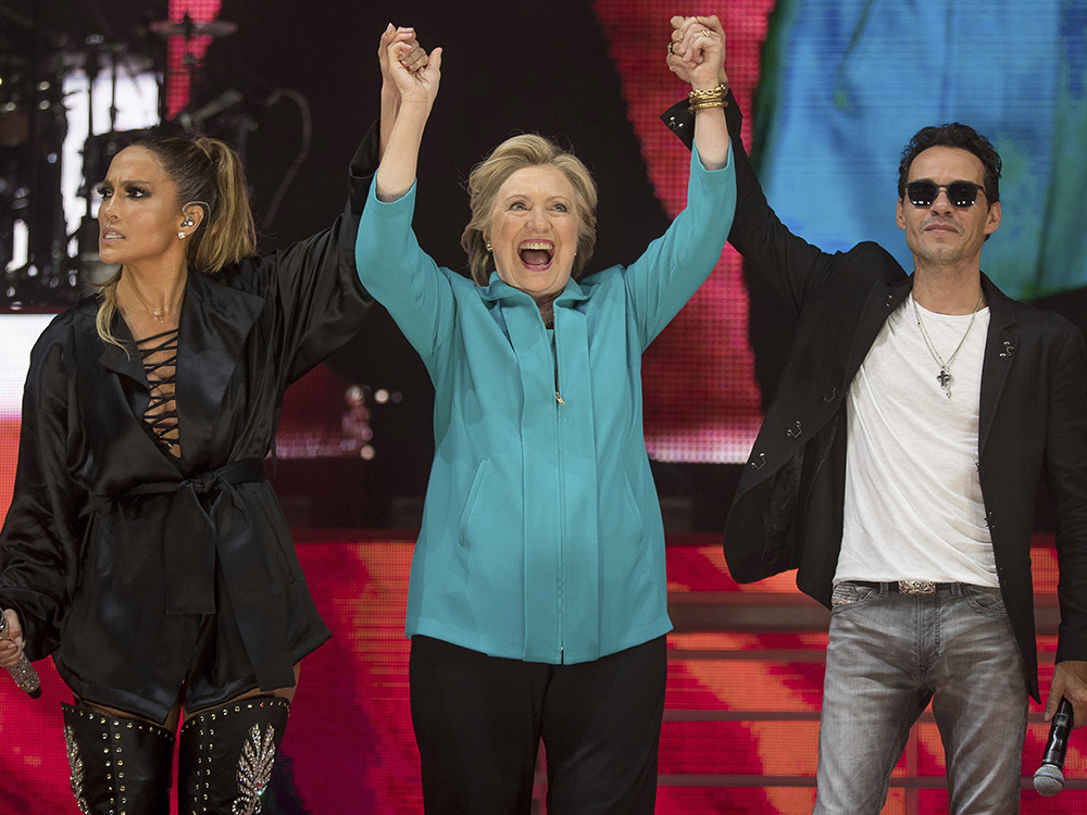 Jennifer Lopez y Marc Anthony juntos por Hillary Clinton