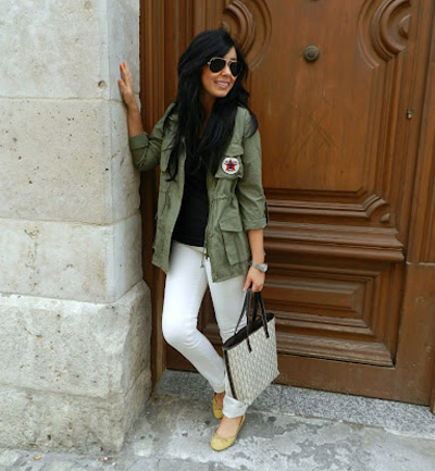 Street style: bloggers con parka militar