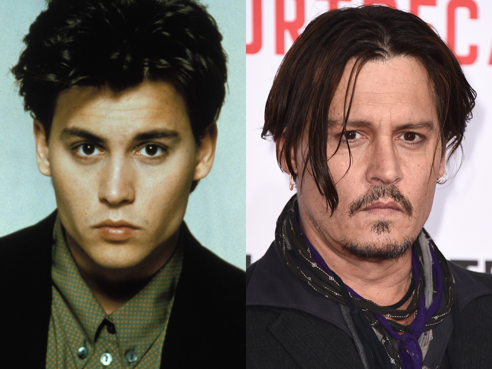 La espectacular decadencia física de Johnny Depp