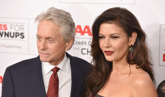 Catherine Zeta- Jones y Michael Douglas