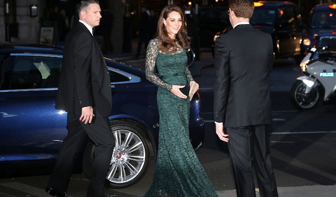 Kate Middleton llega a la gala de la National Portrait Gallery de Londres